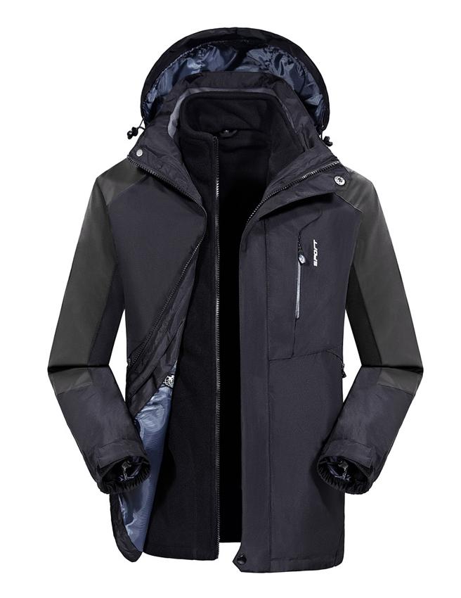 CFY003户外冲锋衣三合一两件套