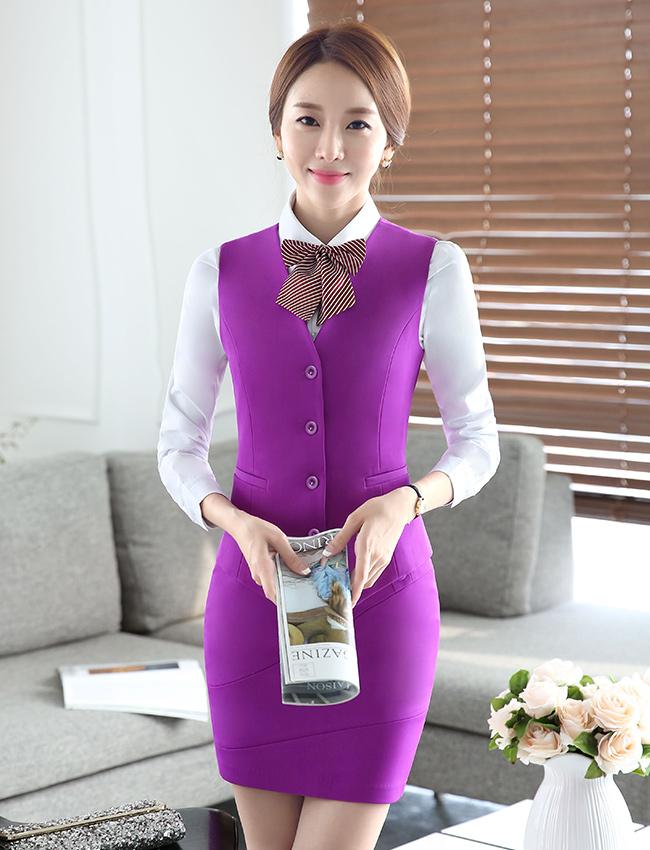 MJ-5时尚马夹职业女装